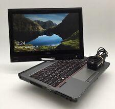 """Fujitsu T726 12"""" Laptop Tablet - Intel i5-5200U 2.20GHz 8GB RAM 128GB SSD Win 10"""