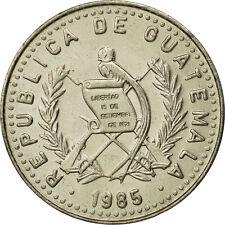 [#464138] Guatemala, 25 Centavos, 1985, MS(65-70), Copper-nickel, KM:278.5