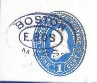 [Cole=Unrecorded] 1870s+ Fancy  Cancel = East Boston 3rd Class Mail PO H/Stamp