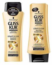 Schwarzkopf Gliss Kur Ultimate Oil Elixir Shampoo & Conditioner for Damaged Hair