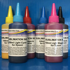 6x100ml SUBLIMATION HEAT TRANSFER INK for Epson Photo R1400 R1500W R 1400 1500 W