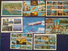 Acht Ansichtskarten SPANIEN mit Briefmarken