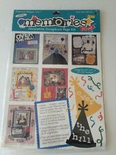 Memories Over the Hill Scrapbook page kit stickers die cut shapes paper 8.5 x 11