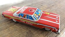 "NEW OLD STOCK c1960 JAPANESE 7"" FIRE CHIEF FRICTION TINPLATE CAR."