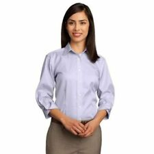 Women's Career Solid 100% Cotton Button Down Shirt Tops & Blouses