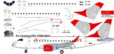 Air Lituanica Embraer ERJ 170 1/144 airliner decals for Hasegawa kit