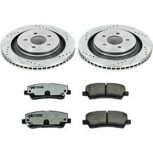 K6812-26 Powerstop New 2-Wheel Set Rear for Ford Mustang 2015-2019
