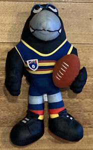 Adelaide Crows AFL Plush Mascot Toy Doll Old AFL logo patch *FREE POST*