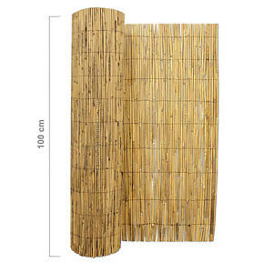 4M x 1M Bamboo Screening Roll Natural Fence Peeled Reed Fencing Outdoor Garden