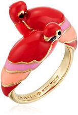 KATE SPADE 12K Gold Plated Parrot Ring, Sz 6 w/ Dust Bag NEW