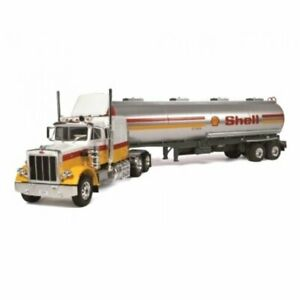 Peterbilt 359 SHELL Petrol OIL 1:43 Trailer semi truck Ixo Altaya Diecast
