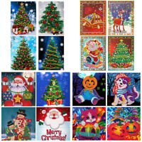 4Pcs/Set 5D DIY Diamond Greeting Cards Christmas Birthday Diamond Painting Kit