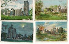 COLMANS STARCH,BRITISH ABBEYS X SEVEN OLD PRINTED POSTCARDS