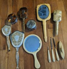 Vintage Hand Held Vanity Mirrors and brushes -Set & more