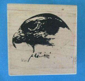 NICK BANTOCK BIRD HEAD Rubber Stamp TAMARIND Bald Eagle