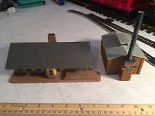 HO SCALE Lot Of 2  Train  Station & Supreme Foods Factory Buildings