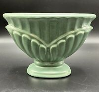 "Decorative Haeger Green Ceramic Pedestal Jar Vase Planter 1996 5.5""T x 8""L"