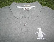 $70. (XXL) ORIGINAL PENGUIN Gray Mesh BIG PENGUIN Polo Jersey Shirt (Munsingwear