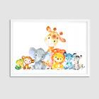 Watercolour Animals Nursery Decor / Nursery Animal Print / Bedroom / Playroom