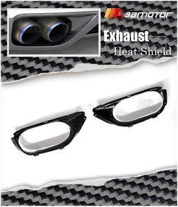 Carbon Fibre Bumper Exhaust Shroud Heat Shields fits Nissan Skyline R35 GT-R GTR