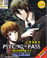Psycho-Pass (season 1+2) DVD - eps : 1 to 33 end (with English subtitle)