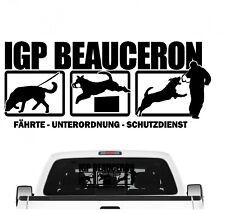 Beauceron IGP Auto Aufkleber Beauce Hundesport Autoaufkleber K9 Hundeanhänger eh