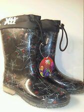 Xti Kids BOOTS WELLIES RAIN BOOTS size EU 34 CLEAR, BLACK, KIDS, GIFT,RRP £29.95