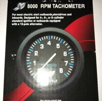 Analog Tacho Rev Counter 8000RPM Gauge for Mercury Mariner Outboard 79-895283A06