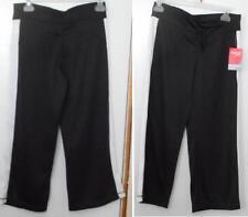 New Women's Danskin Now Athletic Mesh Capri pants Loose Size XS 0-2 Black