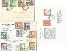 Malta ( 1956 Definitive part set ) 3 FDC Covers (8)-(4)-(2) as per scans.