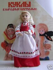 Porcelain doll handmade in Russian national costume-Perm  № 18