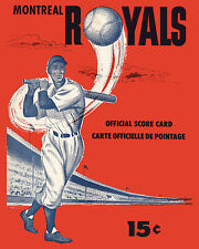 Montreal Royals 1954 Game Program Cover - 8x10 Color Photo
