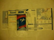 AERO FINNAIR AIRLINES TIMETABLE 1957-1958. MAP ROUTE.