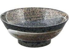 "Japanese 8.25""D Ceramic Arahake Ramen Udon Noodle Rice Bowl, Made in Japan"