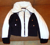 Winterjacke schwarz weiß N3 MARC CAIN Skijacke Steppjacke Daunenjacke 38 warm