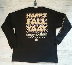 "NWT Simply Southern ""Fall Yaay"" Women's Sz. LARGE Long Sleeve T-Shirt- READ AD"