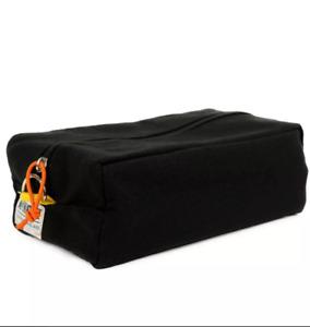 Mr NATTY MENS CANVAS WASH BAG BLACK FULL ZIP TRAVEL GYM SPORTS NEW TOP QUALITY