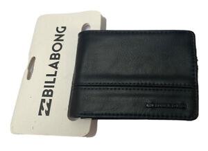 Men's or Boy's Billabong Dimension Black PU Flip Wallet. RRP $19.99. NWT.