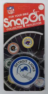 1979 Detroit Lions bike reflector MIP Snap-On original MINT in package vintage