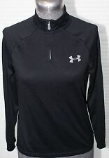 YOUTH UNDER ARMOUR BLACK ZIP UP MOCK TURTLENECK HEAT GEAR PULLOVER SIZE YMD