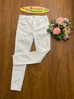 Kensie Jeans Effortless Ankle White Mid Rise Size 2/27 Super Stretch Skinny EUC