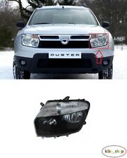 FOR DACIA DUSTER 2010 - 2013 NEW FRONT HEADLAMP LEFT N/S PASSENGER BLACK LHD