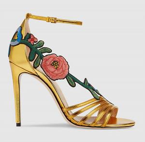 Womens Floral High Stilettos Heel Clubwear Ankle Strap Sandals Shoes Trend Plus