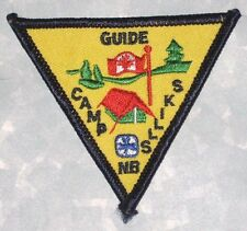 """Girl Guides Camp Skills Patch - Canada -  3 1/8"""" x 2 5/8"""""""