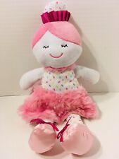 Baby Gear Pink Plush Doll Cupcake Sprinkle Ballerina Dance Princess Furry Skirt