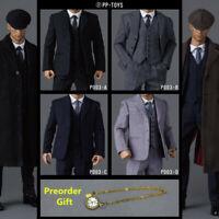 "PP-TOYS 1/6 P003 WWII British Retro Suit Clothes F 12"" Male Figure Body Presale"