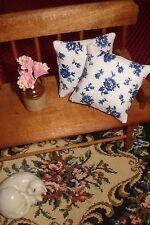 """Lot of 2 -Throw Pillows Dollhouse Blue & White 1 1/2"""""""