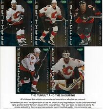 2001-02 Parkhurst by ITG Calgary Flames Regular Team Set (5)