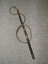 Antique Postillion Plaited Horsehair Whip With Leather Lash & Edward VII Coin