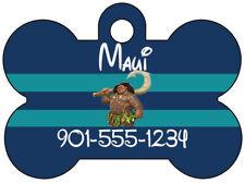 Disney Moana Maui Pet Id Dog Tag Personalized w/ Name & Number